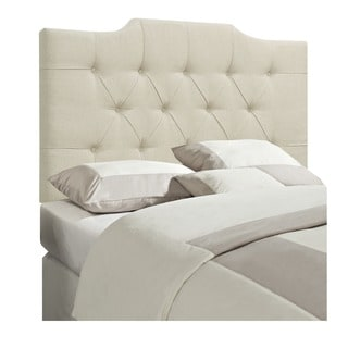 Tufted Beige King/California King Size Upholstered Headboard