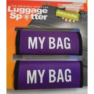 Luggage Spotter My Bag Purple Neoprene Luggage Handle Wraps (Set of 2)