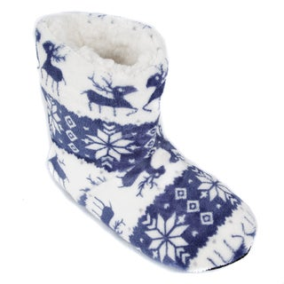 Leisureland Women's Fleece Lined Reindeer Slippers