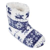 Leisureland Women's Fleece Lined Reindeer Slippers