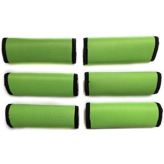 Super Grabber Lime Green Neoprene Handle-grip Luggage Spotter Set (Set of 6)