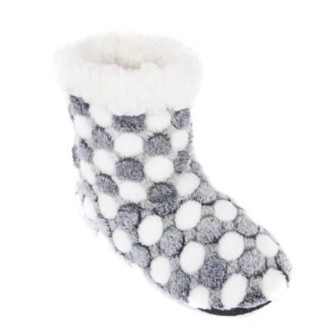 Leisureland Women's Fleece-lined Bootie Slippers