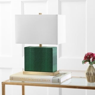 Safavieh Lighting Delia 20.5-Inch Faux Snakeskin Table Lamp