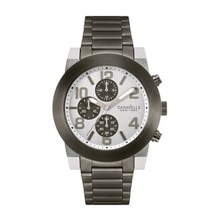 Caravelle New York Men's 45A127 Analog Display Quartz Grey Watch