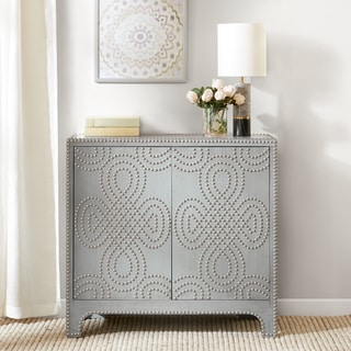 Madison Park Bevan Grey Nailhead Accent Chest
