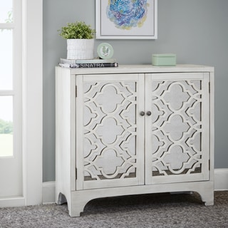 Madison Park Nevaeh Cream Lattice Accent Chest