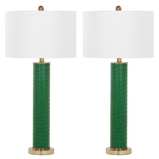 Safavieh Lighting Ollie 31.5-Inch Faux Snakeskin Table Lamp (Set of 2)