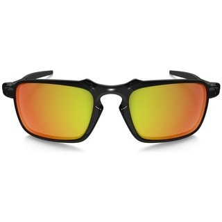 Oakley Men's Badman Polarized Ruby Iridium Rectangular Sunglasses