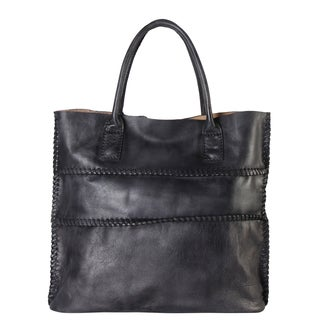 Diophy Genuine Leather Large Shopping Tote Bag