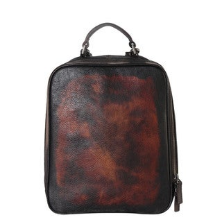 Diophy Genuine Leather Distressed Stylish Backpack