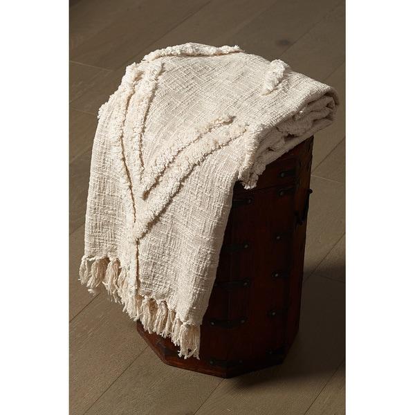 "LR Home Natural Diamonds Cotton Throw Blanket ( 50"" x 60"" )"