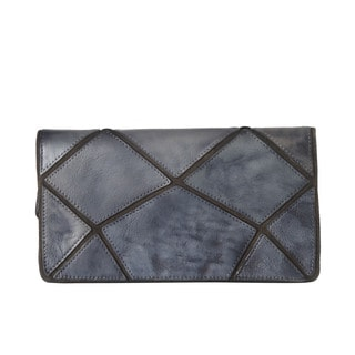 Diophy Genuine Leather Irregular Embossed Wallet