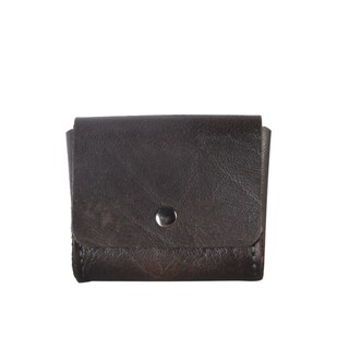Diophy Small Leather Snap-closure Coin Pouch Wallet