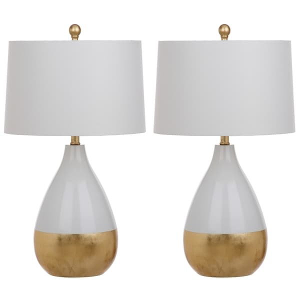 Amazing Safavieh Lighting 24 Inch Kingship White/ Gold Table Lamp (Set Of 2)