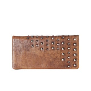 Diophy Genuine Leather Studded Long Wallet (2 options available)