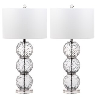 Safavieh Lighting Port Robert 28.5-Inch Glass Table Lamp (Set of 2)