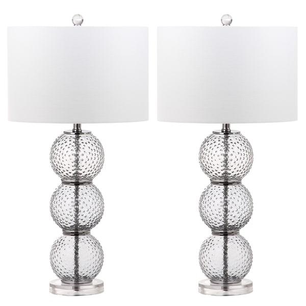 Safavieh Lighting 28.5-inch Port Robert Glass Table Lamp (Set of 2)