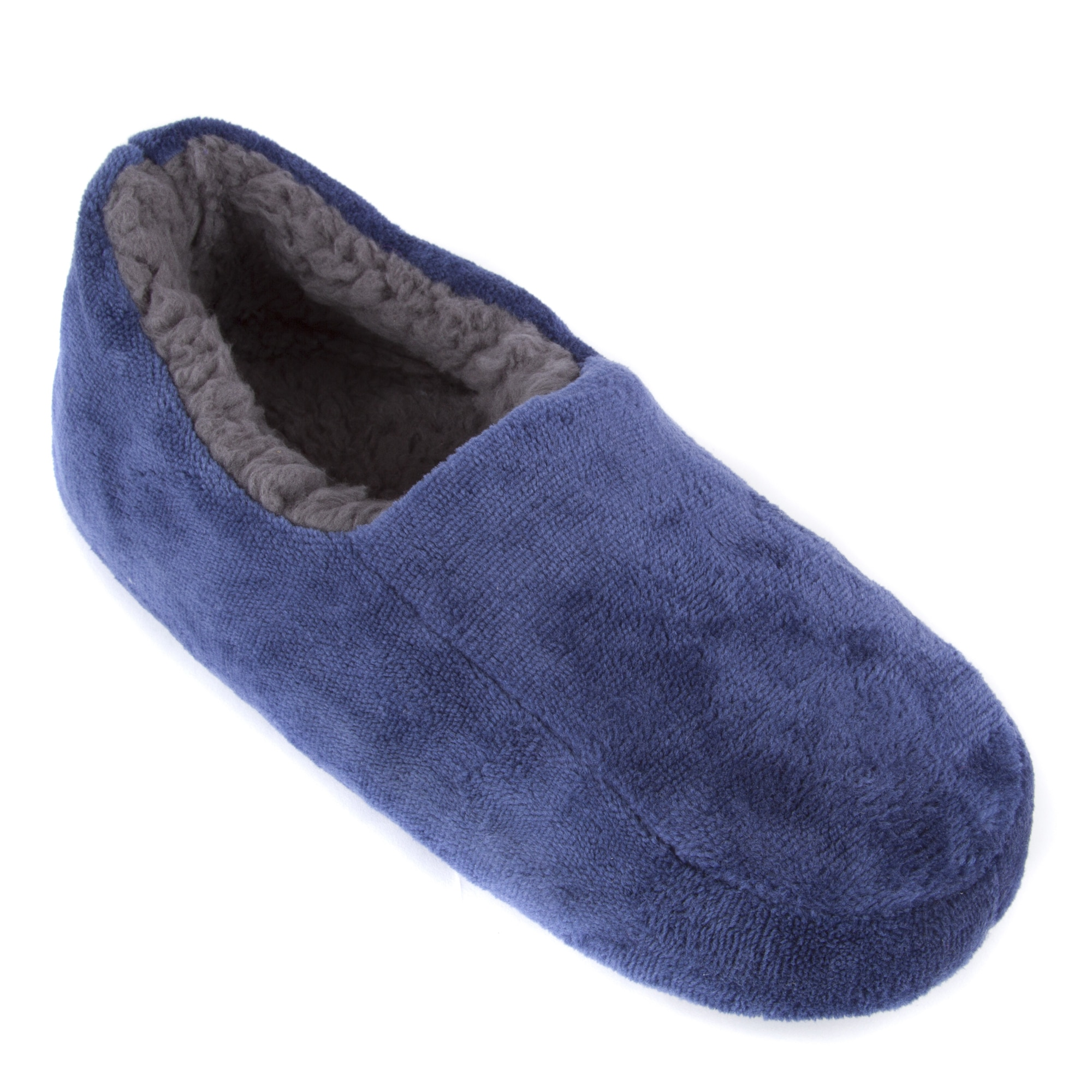 6f6dce7657b540 Leisureland Men s Solid Color Fleece Lined Cozy Slippers
