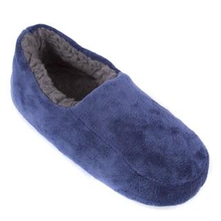 Leisureland Men's Solid Color Fleece Lined Cozy Slippers