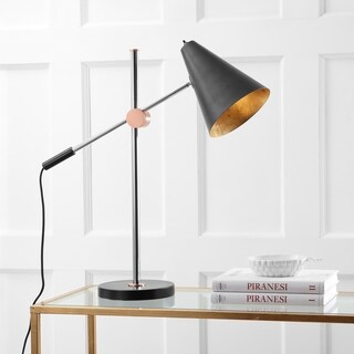 Safavieh Lighting 28-inch Alexus Chrome/ Black Task Table Lamp
