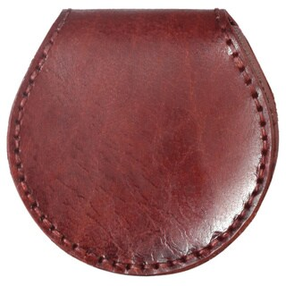 Diophy Leather Small Round Shape Coin Pouch Wallet (Option: Red)