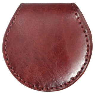 Diophy Leather Small Round Shape Coin Pouch Wallet