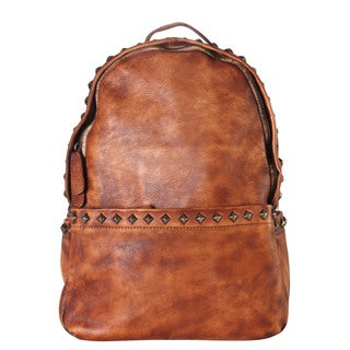 Diophy Genuine Leather Studded Stylish Chic Backpack