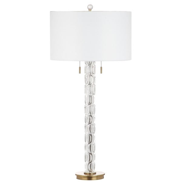 Safavieh Lighting 37-inch Rayna Crystal/ Gold Table Lamp