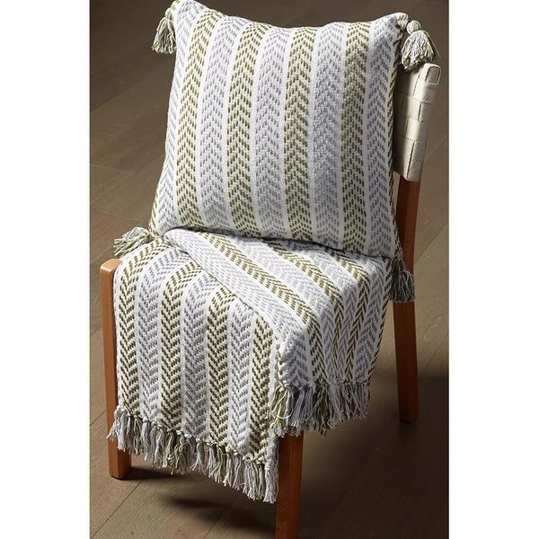 Shop Lr Home Chevron Green Grey Reversible Cotton Couch