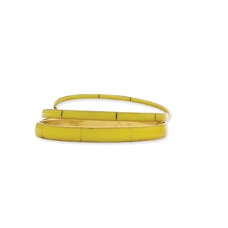 Yellow Resin Cuff Bracelets (set of 3)