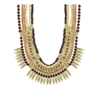 Handmade Bead Ethnic Bib Necklace