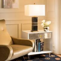 Safavieh Lighting 27.5-inch Jaxton Black/ Gold Table Lamp