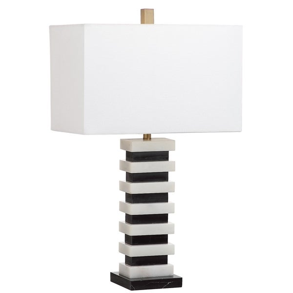 Safavieh Lighting 26.5-inch Hugo Black/ White Table Lamp