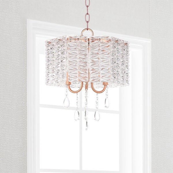 Safavieh Lighting 13.5-inch Harlyn 3-light Copper Crystal Chandelier