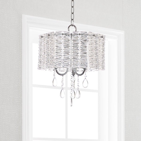 Safavieh Lighting 13.5-inch Harlyn 3-light Chrome Crystal Chandelier