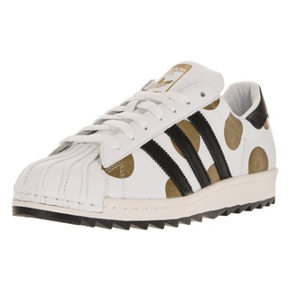 Adidas Men's JS Superstar 80s Ripple White/Black/Gold Leather Casual Shoes