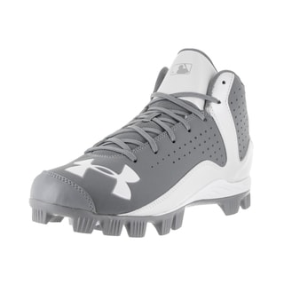 Under Armour Men's UA Leadoff Grey Fabric Baseball Cleats