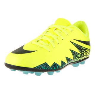 Nike Kids Jr Hypervenom Phade II FG-R Volt/Black/Hyper Turq/Clr Jade Soccer Cleat