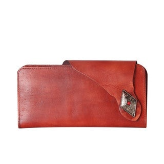Diophy Genuine Leather Distressed Two Compartment Wallet