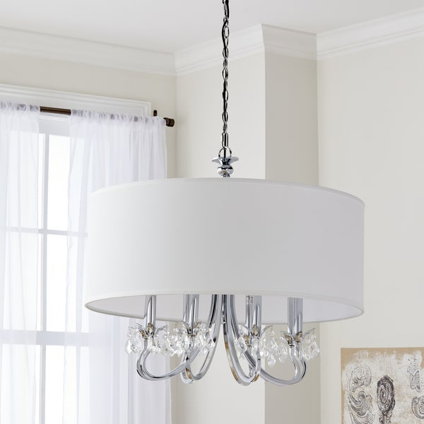Safavieh Lighting 32-inch Krista 8-light Chrome Adjustable Pendant