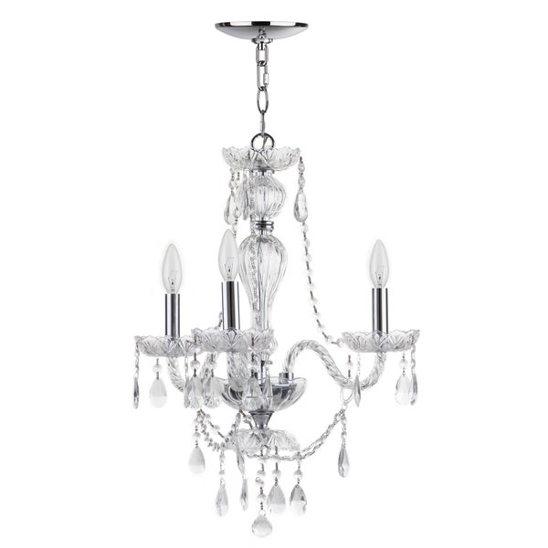 Safavieh Lighting 19.5-inch Karah 3-light Chrome Adjustable Chandelier