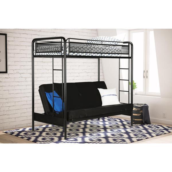 Shop Dhp Rockstar Twin Futon Bunk Bed Free Shipping