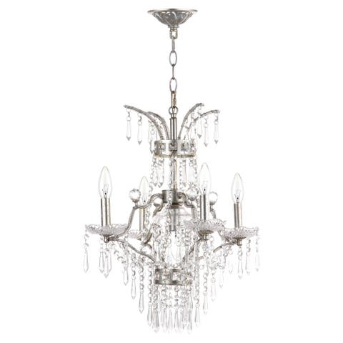 "Safavieh Lighting Michelle Adjustable 5-light Beaded Chandelier - 17.75""x17.75""x25.75 - 97.75"" - 17.75""x17.75""x25.75 - 97.75"""