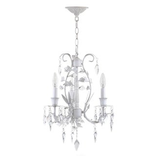 Safavieh Lighting Jasper 3 Light White 14.5 Inch Adjustable Chandelier