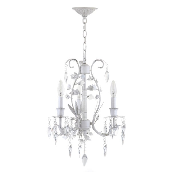 Safavieh Lighting 14.5-inch Jasper 3-light White Adjustable Chandelier