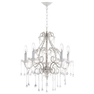 Safavieh Lighting Darwin 5 Light White 20.5-Inch Adjustable Chandelier