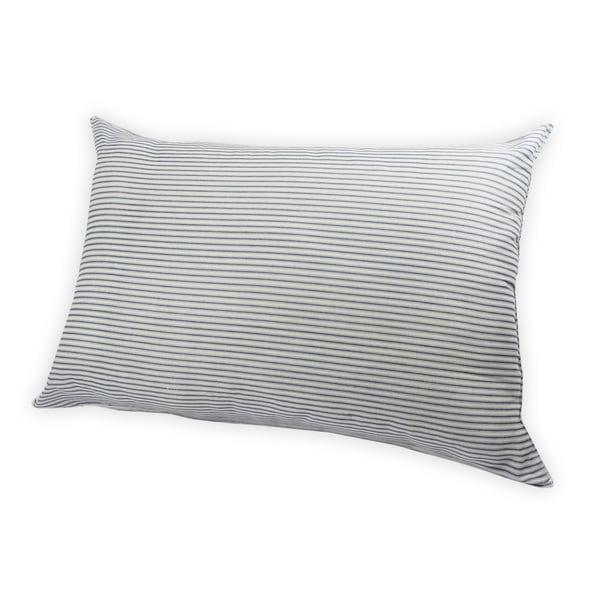 Oxford Stripe Down Alternative Jumbo Bed Pillow