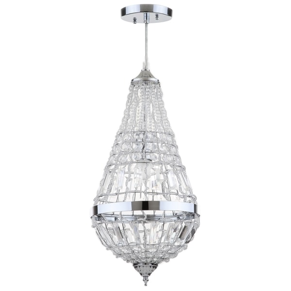 Safavieh Lighting 10-inch Silva Chrome Glass Byrd Chandelier