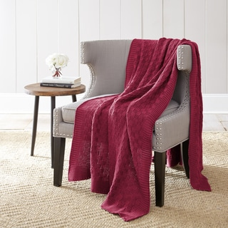 100% Cotton Oversized Cable Chunky knit throw