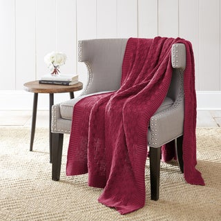 Amrapur Overseas 100 Cotton Oversized Cable Chunky Knit Throw